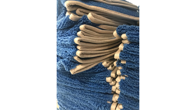 Microfibra azul de pelo largo